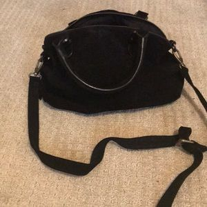 Urban outfitters satchel crossbody. Black suede